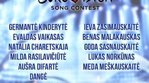 ΛΙΘΟΥΑΝΙΑ: Οι 13 καλλιτέχνες της 1ης εκπομπής Eurovizija 2018!